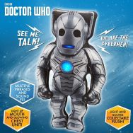 Doctor Who Light & Sound Soft Plush Toy - Talking Cyberman